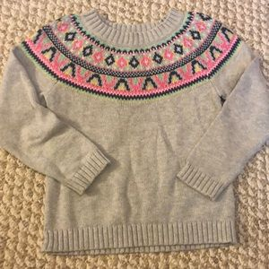 Carters Fair Isle Sweater 4T